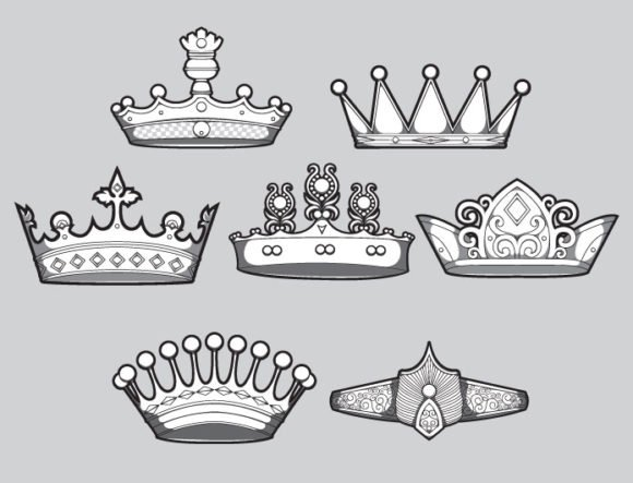 Crowns vector pack 3 2