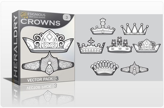 Crowns vector pack 3 1