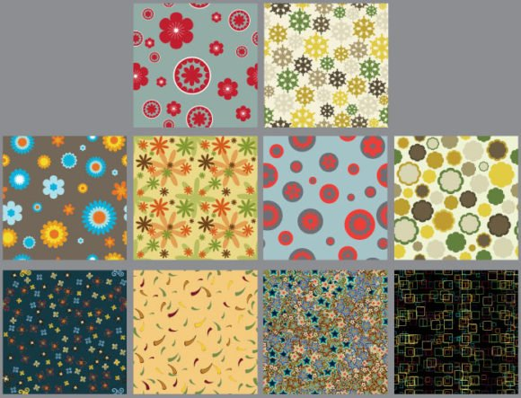 Seamless patterns vector pack 9 2