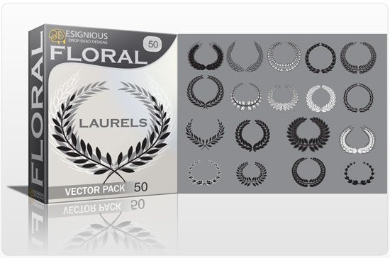 Floral laurel vector pack 50 1