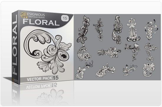 Floral vector pack 15 1