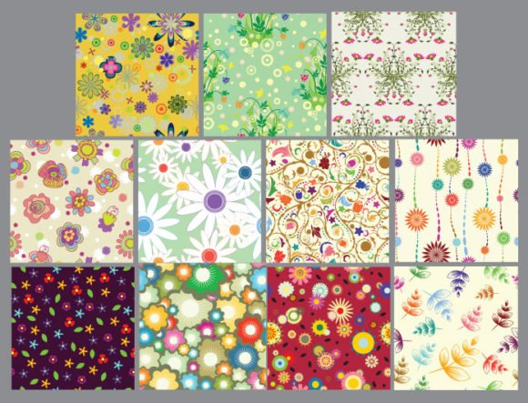 Seamless patterns vector pack 14 2