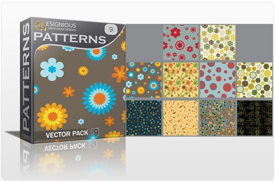 Seamless patterns vector pack 9 1