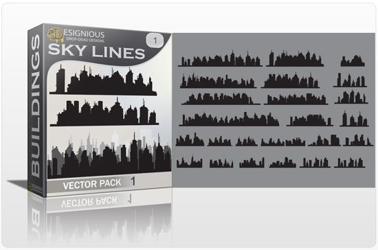 Skylines vector pack 1