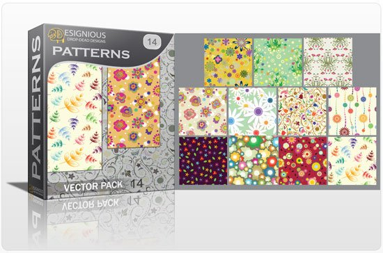 Seamless patterns vector pack 14 1