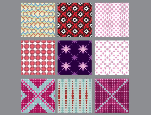 Seamless Patterns vector pack 7 2