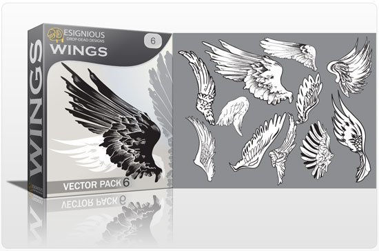 Wings vector pack 6 1