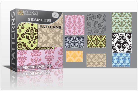 Seamless patterns vector pack 23 1