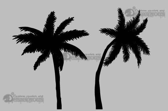 Palm trees vector pack 3