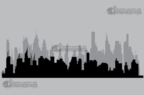 Skylines vector pack 3