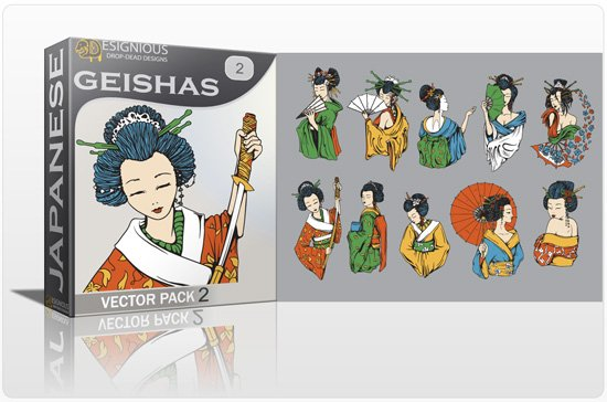 Geishas Vector Pack 2 1