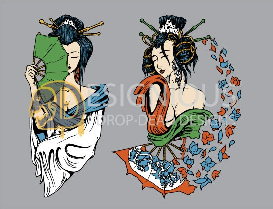 Geishas Vector Pack 2 3