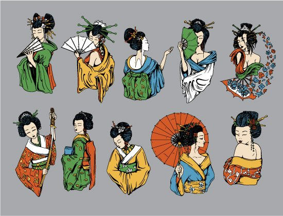 Geishas Vector Pack 2 2