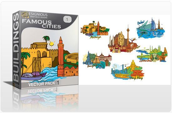 Famous Cities Vector Pack 1 1