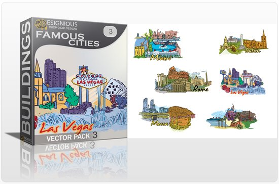 Famous Cities Vector Pack 3 1