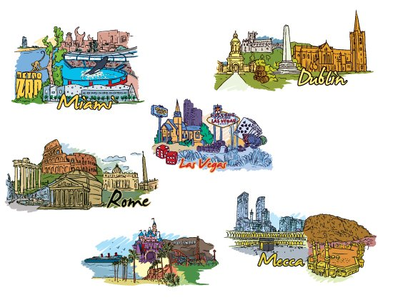 Famous Cities Vector Pack 3 2