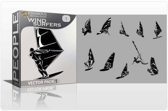 Wind Surfers Vector Pack 1 1