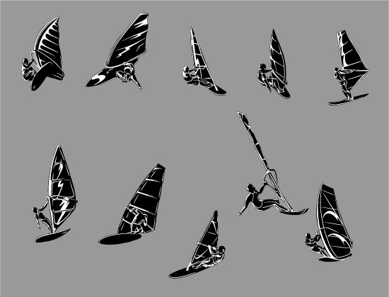 Wind Surfers Vector Pack 1 2