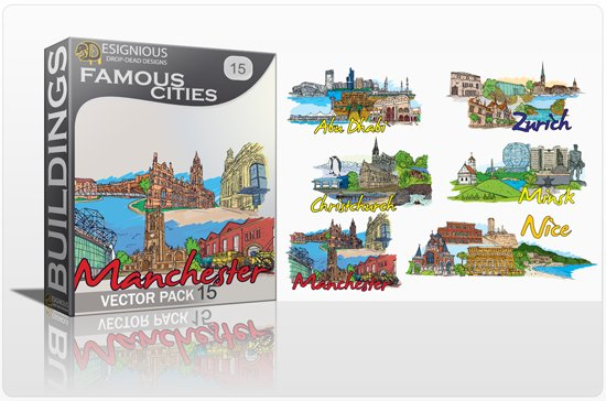 Famous Cities Vector Pack 15 1