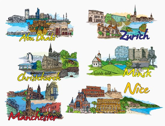 Famous Cities Vector Pack 15 2