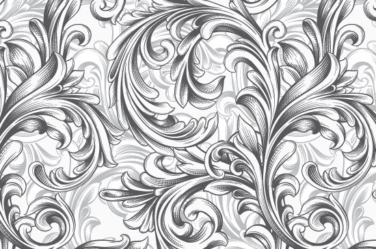 Seamless Patterns Vector Pack 63 - Floral Chaos Engraved 8