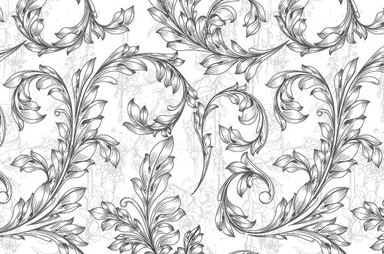 Seamless Patterns Vector Pack 67 - Floral Chaos Engraved 8