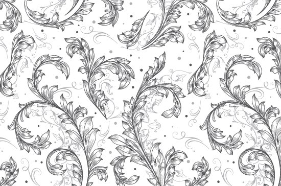 Seamless Patterns Vector Pack 67 - Floral Chaos Engraved 7