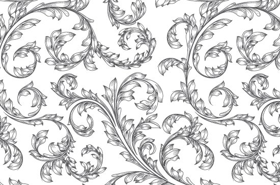 Seamless Patterns Vector Pack 67 - Floral Chaos Engraved 6
