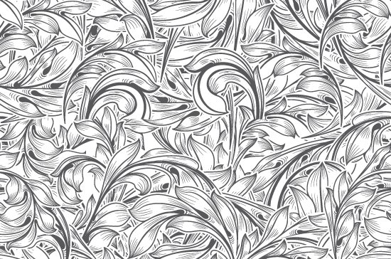 Seamless Patterns Vector Pack 67 - Floral Chaos Engraved 5