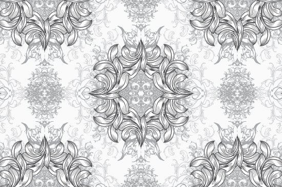 Seamless Patterns Vector Pack 67 - Floral Chaos Engraved 4