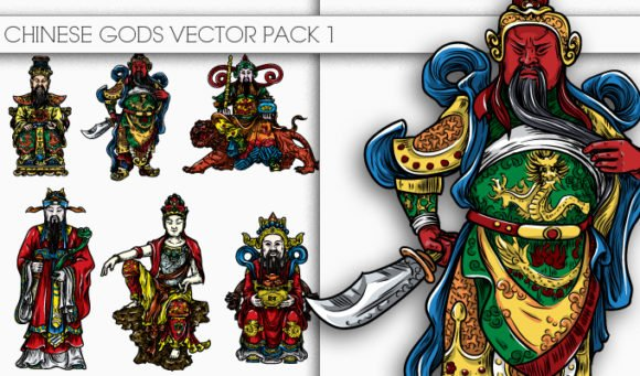 Chinese Gods Vector Pack 1 1