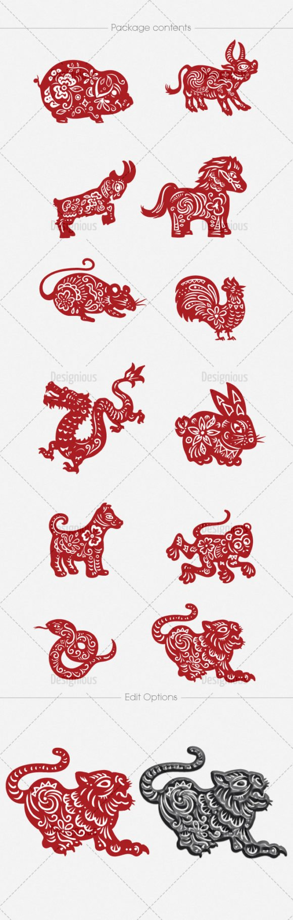 Chinese Zodiac Vector Pack 1 2