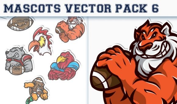 Mascots Vector Pack 6 1