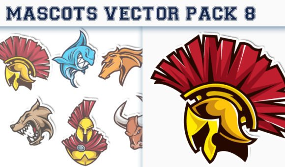 Mascots Vector Pack 8 1