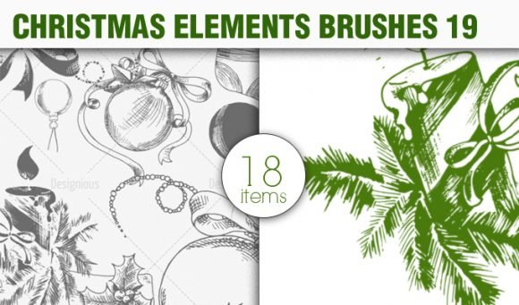 Christmas Brushes Pack 19 1