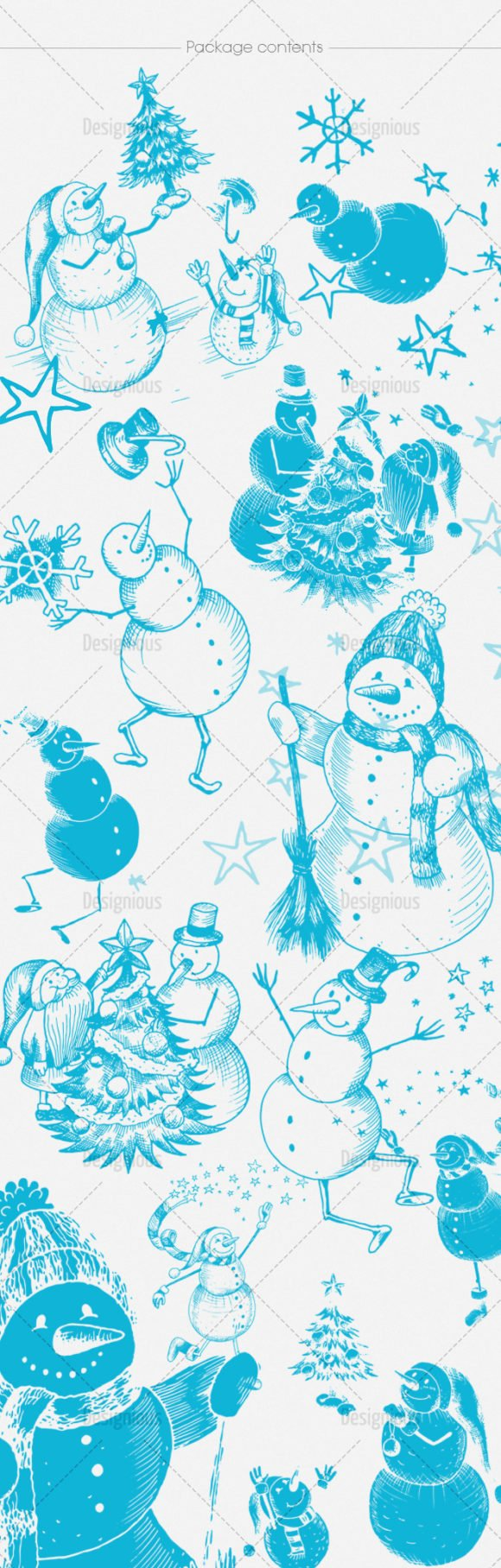 Snowmen Brush Pack 14 2