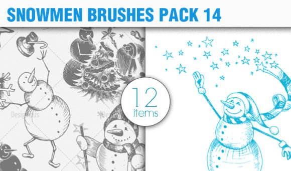 Snowmen Brush Pack 14 1