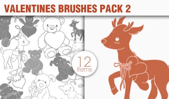 Valentines Day Brushes Pack 2 1