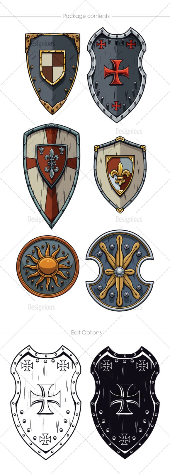 Shields Vector Pack 5 2