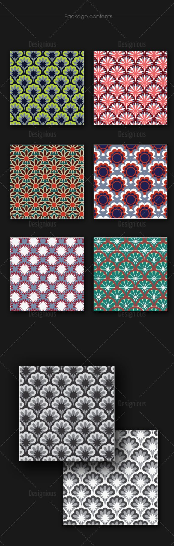Seamless Patterns Vector Pack 164 2