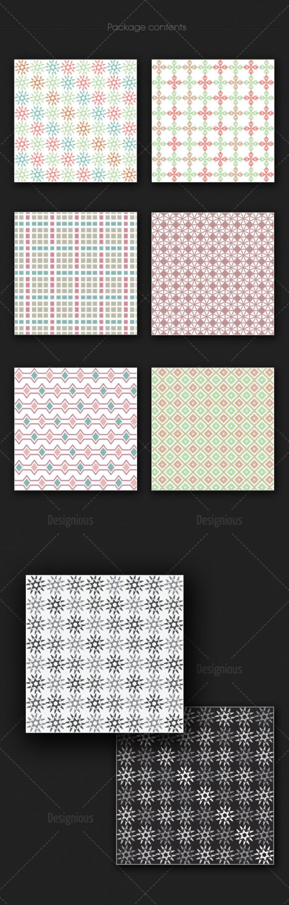 Seamless Patterns Vector Pack 177 2