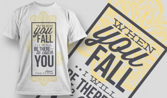 When You Fall I Will Catch You Free Typography Design - 1000 1