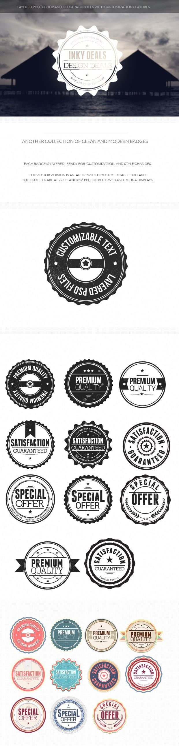 Clean and Modern Badges set 2 6