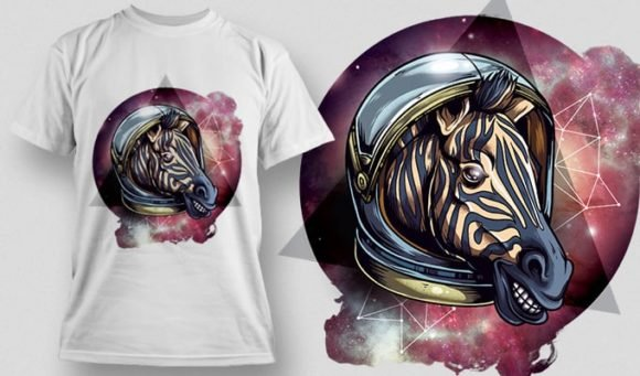 T-Shirt Design Plus - Cosmic Zebra 1