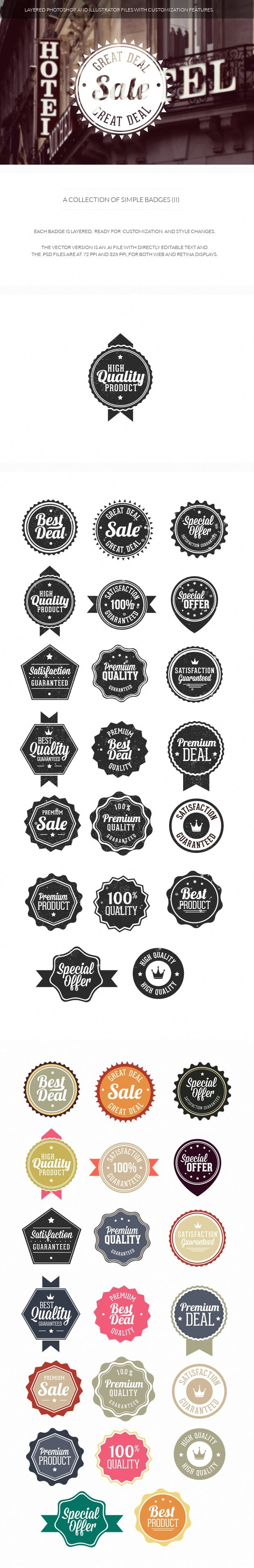 Simple badges set 2 6