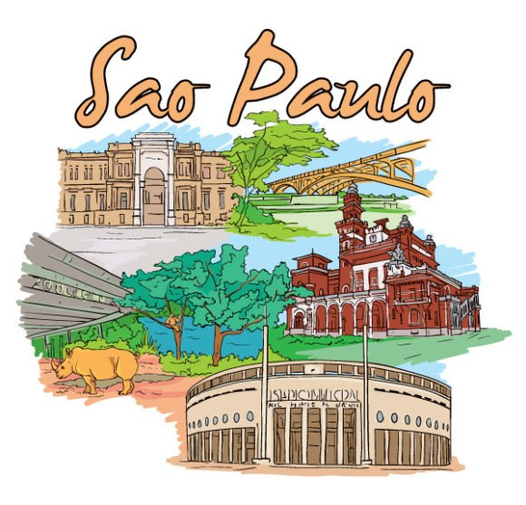 Paulo, Bridge, Doodles Eps Vector Sao Paulo Doodles Vector Illustration 1