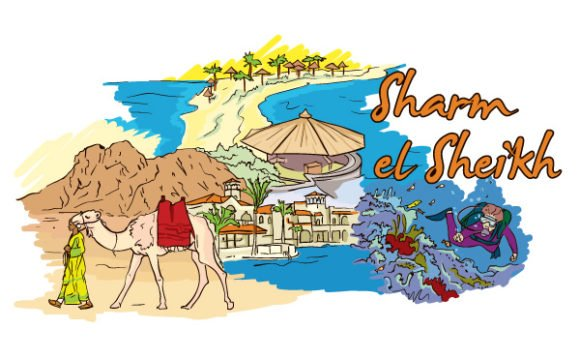 Creative, El Vector Image Sharm El Sheikh Vector Illustration 1