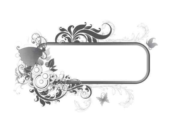 Abstract Vector Vector Abstract Floral Frame 1