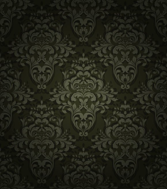 Brilliant Damask Vector Background: Vector Background Damask Seamless Background 1