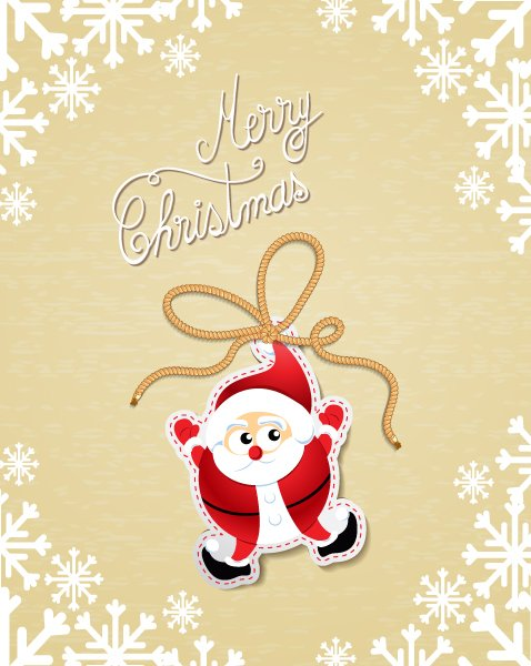 Vector, Illustration, With Vector Image Christmas Vector Illustration With Santa 1